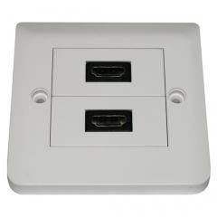 Dr.HD 2xHDMI rosette, square