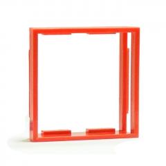 Рамка-переходник для розеток 50х50 на 45х45, красная