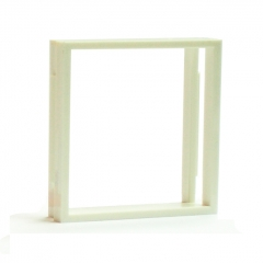 Рамка-переходник для розеток 50х50 на 45х45, белая
