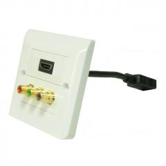 Dr.HD 1xHDMI, 3xRCA rosette, square